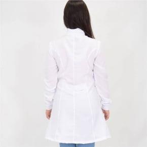 Jaleco Branco Feminino Acinturado